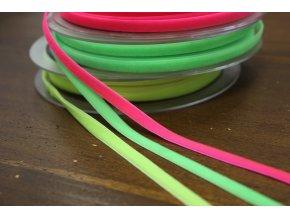 Sametová stuha v neonových barvách, 7 mm