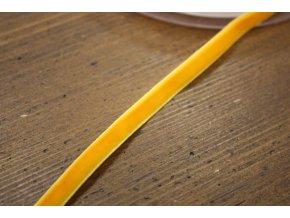Oranžová sametová stuha, 7 mm
