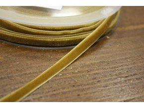 Okrová sametová stuha, 7 mm