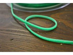 Výrazně zelená sametová stuha, 3mm