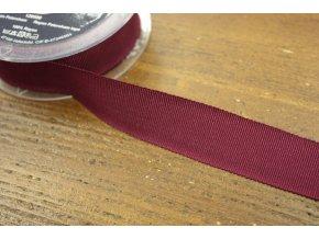Stuha Petersham v bordó barvě, 25mm