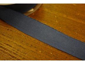 Stuha Petersham v světlejší modré barvě, 25mm