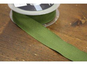 Stuha Petersham v zelené barvě, 25mm