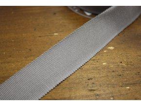 Stuha Petersham v šedé barvě, 25mm