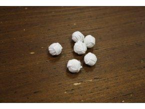 Bílý čínský knoflík, 10mm
