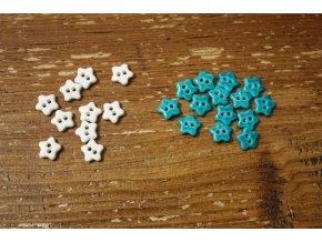 Dvoudírkové knoflíky ve tvaru hvězdičky