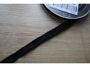 Černá stuha Petersham, 10mm