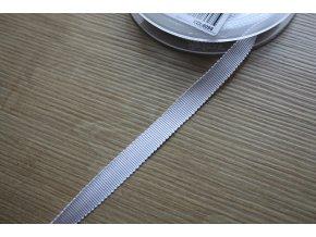 Bílá stuha Petersham, 10mm