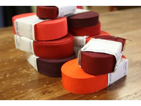 Rypsová stuha v odstínech červené, 30mm