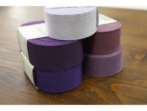 Rypsová stuha v odstínech fialové, 30mm