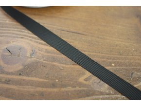 Černá lesklá rypsová stuha, 10mm
