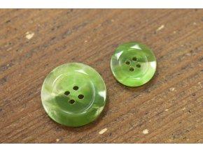 Zelený oblekový knoflík