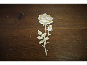 Nažehlovací aplikace ve tvaru bílé růže