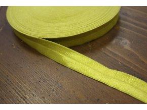 Pistáciová lesklá jemná guma - lemovka, 19 mm