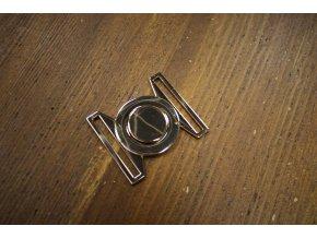 Zlatá zacvakávací spona, 40 mm