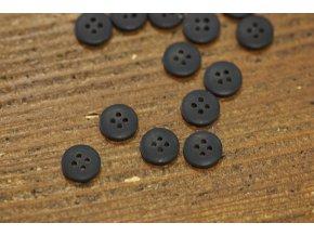 Černý matný košilový knoflík, 12mm