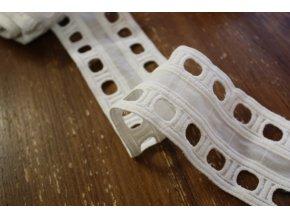 Bilá madeirová stuha, 7 cm
