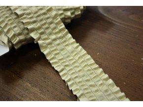 Ozdobná zlatá guma s volánkem, 4cm