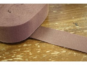 Kakaová rypsová stuha, 40mm