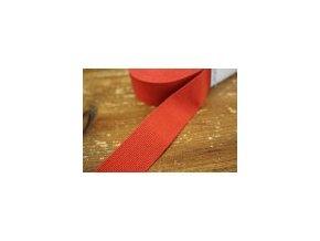 Rypsová stuha v tlumené červené barvě, 40mm