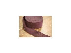 Čokoládově hnědá rypsová stuha, 40 mm