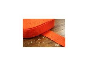 Oranžová rypsová stuha, 40 mm