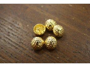 """Zlatý """"pomačkaný"""" knoflík, 15mm"""