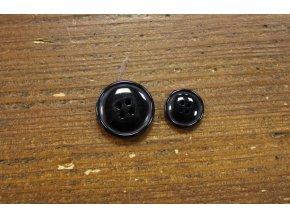 Oblekový knoflík v černé barvě, 15mm a 21,5mm