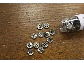 Šedo-hnědý čtyřdírkový perleťový knoflík 10mm