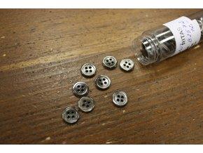 Šedo-hnědý čtyřdírkový perleťový knoflík 12mm