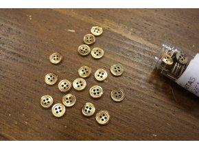 Rezavý čtyřdírkový perleťový knoflík 10mm