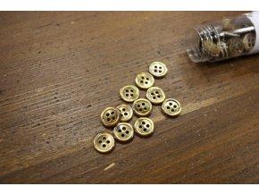 Rezavý čtyřdírkový perleťový knoflík 12mm