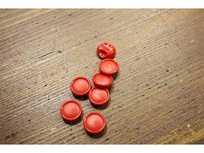 Červený plastový knoflík, 11mm