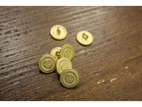 Zlatý knoflík s ornamentem, 13,5mm