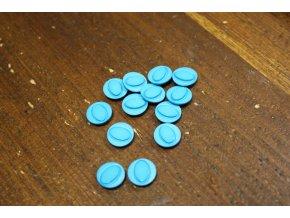 Tyrkysový plastový knoflík, 12mm