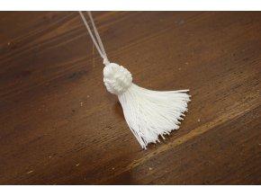 Bílé střapce, 10 cm