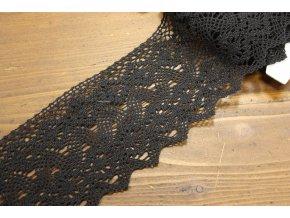 Černá bavlněná krajka, 10cm