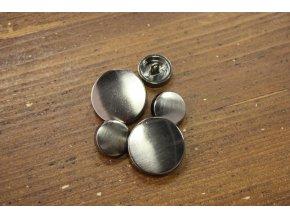 Kovový kabátový knoflík, 15mm a 28mm