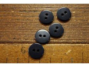 Tmavě modrý dvoudírkový knoflík, 12,7mm