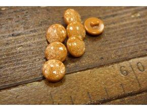 Oranžový knoflík - pecička, 12mm
