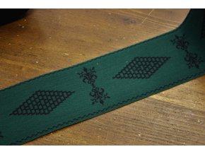 Široká zelená guma s černým vzorem, 8cm