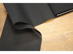Černá průsvitná široká guma, 15cm