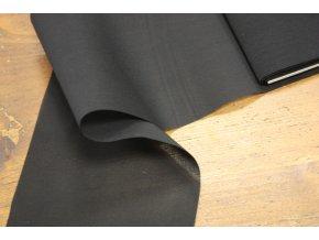Černá průsvitná široká guma, 12cm