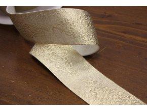 Zlatá guma se vzorem, 5cm
