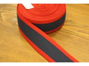 Modro-červená pruhovaná guma, 5cm