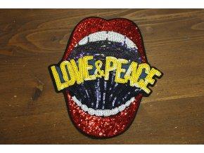 Nažehlovací aplikace Love and Peace