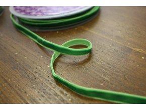 Výrazně zelená sametová stuha, 7 mm
