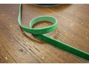 Výrazně zelená sametová stuha, 10 mm