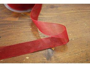 Červená organzová stuha, 23mm