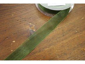 Zelená organzová stuha, 23mm